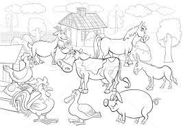farm animals cartoon coloring book vector illustration igor
