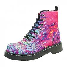 s army boots uk anarchic 7 eye paint swirl boots