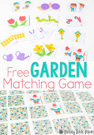 spring matching game for preschoolers free printable living