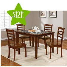kmart dining room sets kmart essential home jackson 5pc faux marble dining set only 121