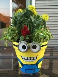 minion flower pot garden pinterest flower clay and gardens