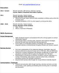extracurricular resume template it resume format template 7 free word pdf format download