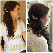 wedding hair by lyndsayb half up half down wedding hair bride