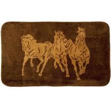 Western Bathroom Rugs Running Horses Western Bath Rug Cabin Place
