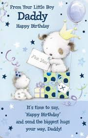 to daddy from your little boy happy birthday card 5 x cards to