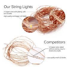 amazon com innotree fairy lights usb plug in 33ft 100 led warm