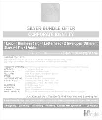 Business Card Standard Dimensions Corporate Identity Silver Bundle Offer