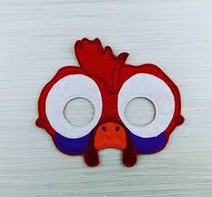silly chicken mask chicken felt mask soft mask moana
