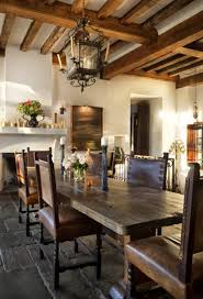 Wood Dining Room Interior Antique And Modern Style Combination For House Design