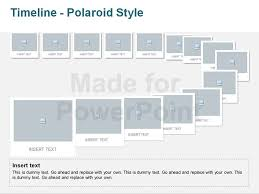 ppt timeline template timeline polaroid style editable vector graphics