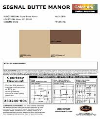 signal butte manor approved paint colors