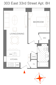 New York Condo Floor Plans by 303 East 33rd Street Murray Hill Manhattan Scout