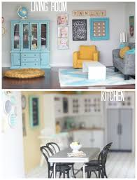 dollhouse kitchen furniture diy dollhouse living room and kitchen
