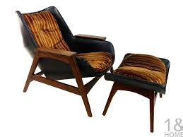 modern chair with ottoman sculptural mid century modern lounge chair ottoman one home
