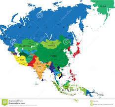 Political Map Of East Asia by Political Map Of Asia Royalty Free Stock Images Entrancing Map Of