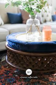 west elm hack diy ottoman coffee table