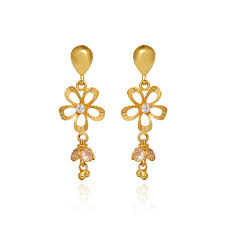 gold earrings online earrings new fashion women gold earrings grt jewellers