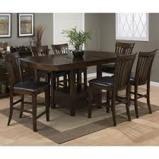 Counter Height Dining Room Table Sets Mirandela Birch Counter Height 7 Piece Dining Set 836 78b 836