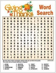 giving thanks word search esl word search