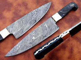 custom made kitchen knives custom made damascus chef knife jn1840 customknives0065 on