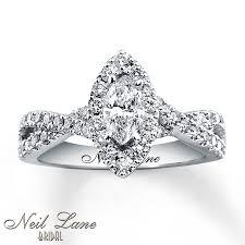 Neil Lane Wedding Rings by Kay Neil Lane Engagement Ring 1 Ct Tw Diamonds 14k White Gold