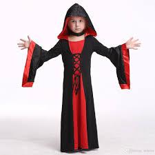 Hooded Halloween Costumes Kids Vampire Dress Costume Halloween Costume Girls Stage