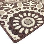 Hampton Bay Outdoor Rugs Hampton Bay Coastal Medallion Brown 7 Ft 5 In X 10 Ft 8 In