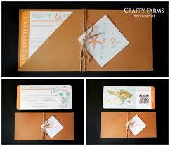 Boarding Pass Wedding Invitation Card Wedding Card Malaysia Crafty Farms Handmade Rustic Orange And