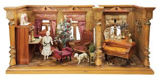Curtains Music Christmas Dollhouse With Fine Original Curtains Music Room And