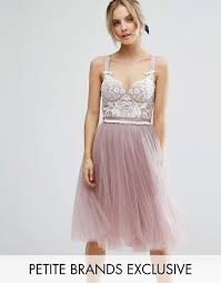 contrast lace corset top tulle skirt prom dress by chi chi london