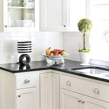 black and white subway tile backsplash kitchen classic white