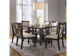 dining room sets with fabric chairs najarian planet six piece contemporary dining table and chairs set