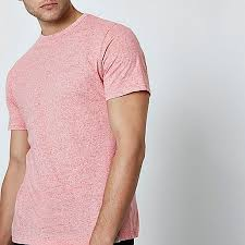 light pink t shirt mens river island light pink neppy fabric slim fit t shirt 303888 men t