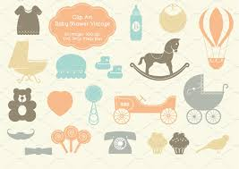 20 baby shower vintage elements illustrations creative market