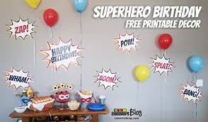 superhero woman birthday party free printable decor