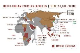 World Map Korea Rfa Launches Investigative Series On North Korean Labor Overseas Bbg