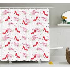 Orchid Shower Curtain High Heel Shoe Shower Curtain Wayfair
