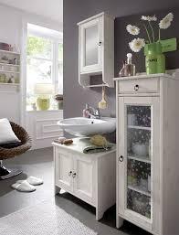 designer waschbeckenunterschrank massives kiefernholz mit weiß lasierter oberfläche und verspielte