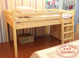 Childrens Bed Wood Bunk Beds And A Half High Beds For Children - Half bunk bed