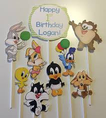 9 baby looney tunes characters centerpiece picks