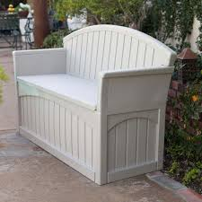 White Wood Storage Bench Bench Outdoor Pool Storage Bench Outdoor Patio Storage Bench