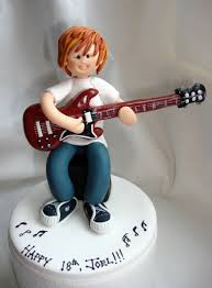 guitar cake topper guitar player musician birthday cake topper 18th 21st 30th 40th