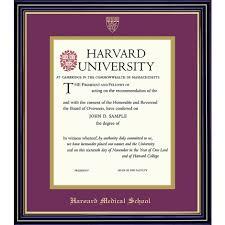 harvard diploma frame harvard embossed diploma frame
