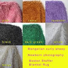 Mongolian Faux Fur Rug Aliexpress Com Buy Mongolian Curly Sheep Faux Fur Fabric Newborn