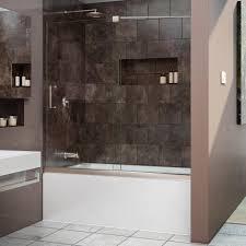 Bathroom Shower Doors Home Depot by Dreamline Mirage 56 In To 60 In W X 58 In H Semi Framed Sliding