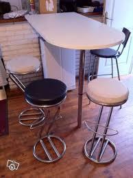 mange debout cuisine mange debout avec chaises hautes occasion