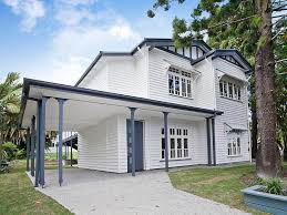 white exterior house with charcoal trim paintright colac house