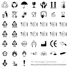 Symbols For - useful symbols for industry that can be placed on packaging in