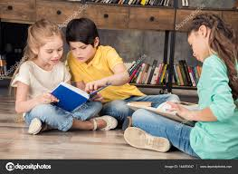 classmates books classmates reading books stock photo zaramuzafarova 144053047