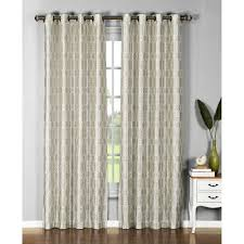 Crushed Voile Sheer Curtains by Window Elements Sheer Pamela Printed Sheer Extra Wide 54 In W X